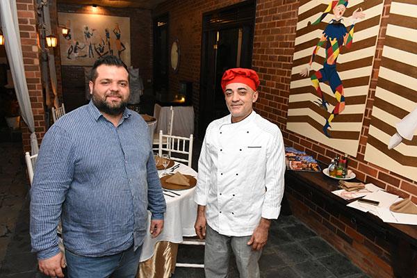 Armando D'Elia e o experimente chef Manoel Coelho