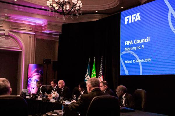 Reunião do Conselho da FIFA foi realizada em Miami, nos Estados Unidos e terminou ontem