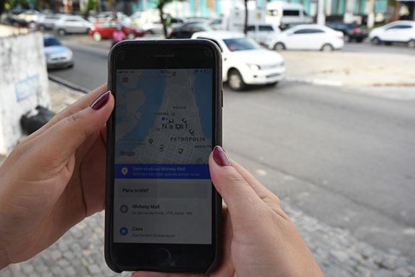 Na região metropolitana de Natal existem quatro motoristas de aplicativos para cada taxista
