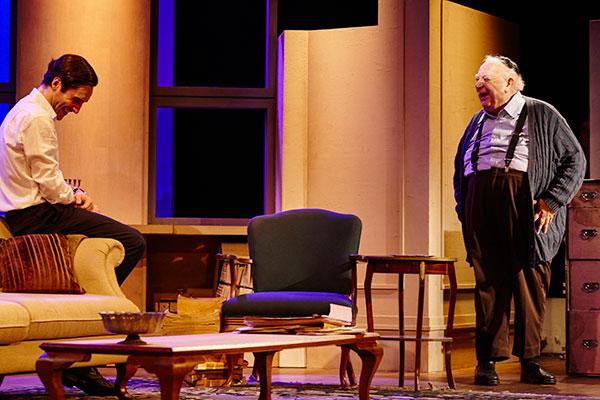 Na peça, um jovem executivo atropela um senhor e é condenado por negligência. Sua pena é fazer serviços comunitários para a vítima