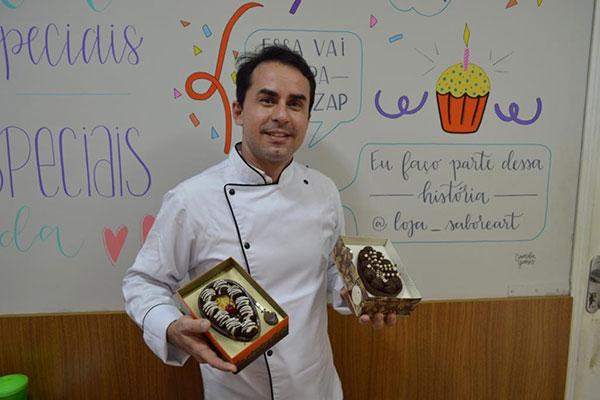 Erion Fideles padronizou modelo e tamanho dos ovos para a Páscoa deste ano com vistas à ampliação das encomendas neste mês