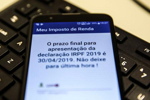 Prazo para envio de declaraçao do IRPF 2019 encerra dia 30/04