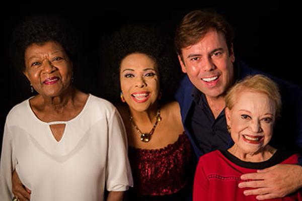 Quarteto formado por Eliana Pittman, Claudette Soares, Alaíde Costa e Márcio Gomes prestam justa homenagem à diva