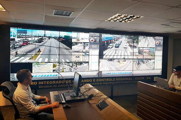 Centro Integrado de Comando e Controle Regional (CICCR) para monitorar o protesto contra o bloqueio nas verbas da Educação