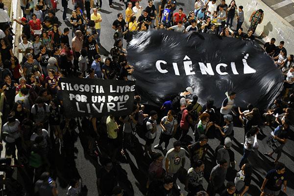 A defesa da pesquisa nas instituições federais foi um dos pontos fortes da voz dos manifestantes