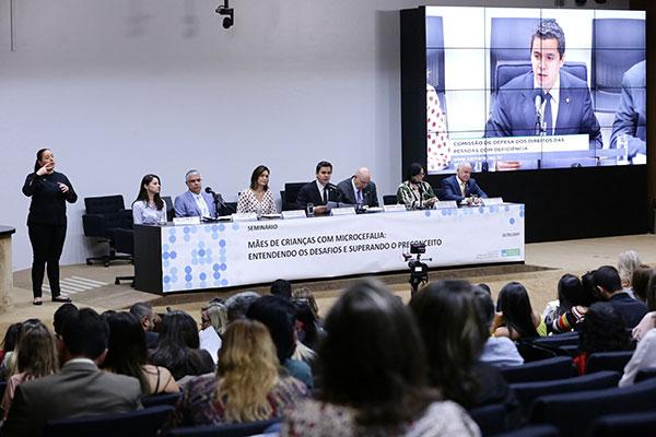 Evento reuniu a primeira-dama Michele Bolsonaro e os ministros Osmar Terra e Damares Alves