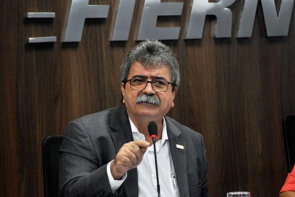 Amaro Sales de Araújo, presidente da Fiern, destaca que dia será importante para empresários discutirem rumos da indústria no RN