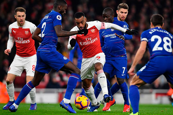 Durante o Campeonato Inglês da temporada 2018/2019, uma vitória para cada lado
