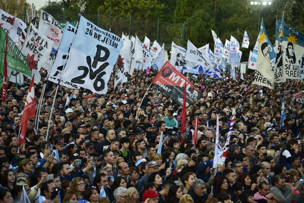 Protestos na Argentina