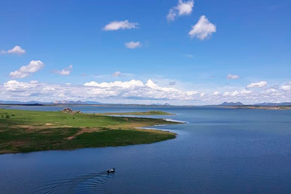 Barragem Armando Ribeiro Gonçalves está atualmente com 34,62% de sua capacidade de armazenamento
