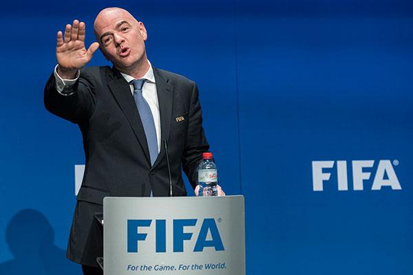 Infantino se emocionou e prometeu uma Fifa sem corrupção