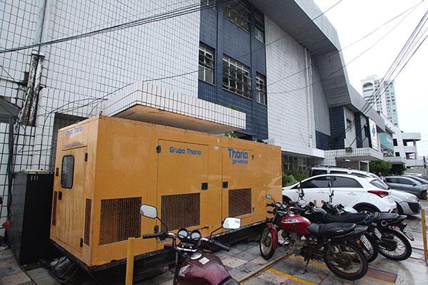 Na tarde de ontem a energia elétrica do hospital foi fornecida por um gerador