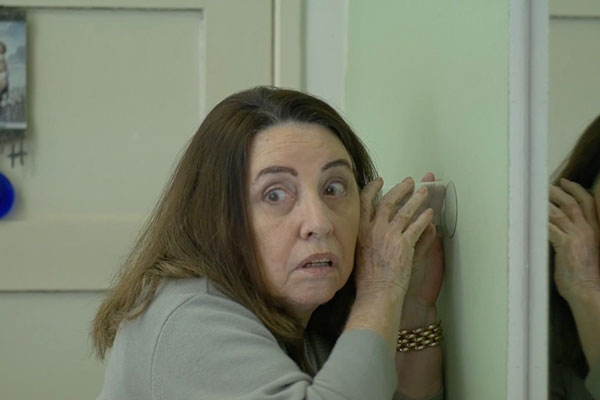 A atriz Clotilde Tavares no elenco de O Morador do 1101