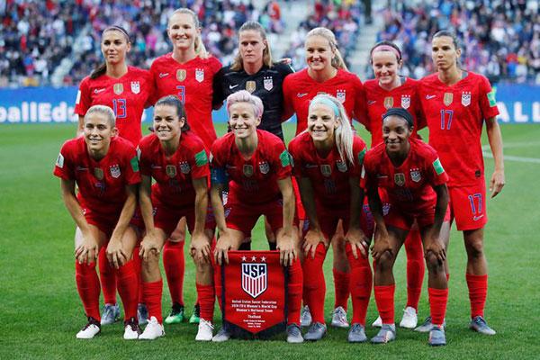 Seleção dos Estados Unidos na Copa do Mundo de Futebol Feminino - França - 2019