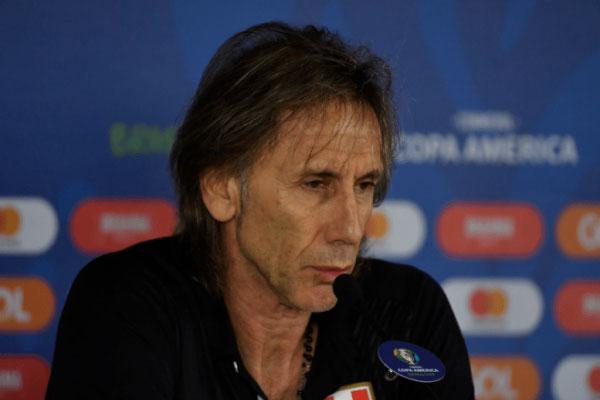 O argentino e treinador do Peru, Ricardo Gareca contará com Guerrero para o jogo da semifinal