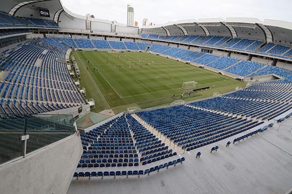 Estádio Arena das Dunas construído para eventos internacionais fica de fora da competição