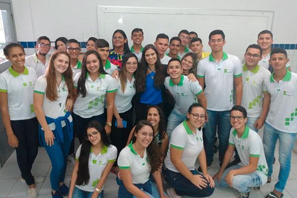 A professora do ensino médio Patrícia Barreto foi uma das vencedoras do prêmio Educador Nota 10