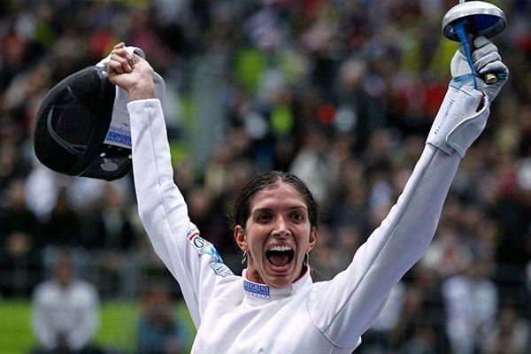 Nathalie Moellhausen foi perfeita no Mundial da Hungria