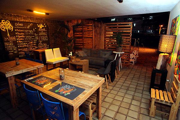 Um dos salões da ampla residência do Medusa, em Capim Macio
