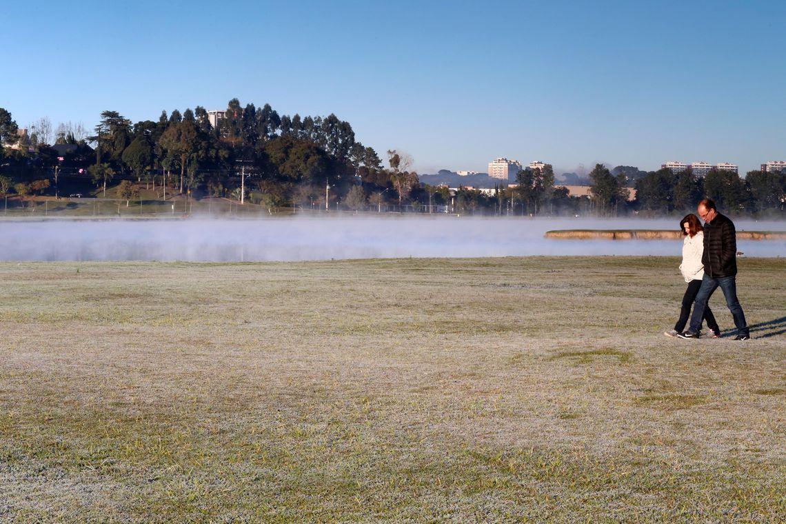 Paraná registra baixas temperaturas