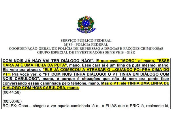 Documento obtido pelo Estadão