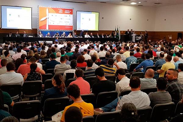 Abertura do 11º Fórum Nacional Eólico ocorreu nesta quarta-feira, 14, na Escola de Governo do RN