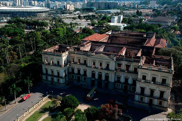 Museu Nacional do Rio, em foto de setembro de 2018