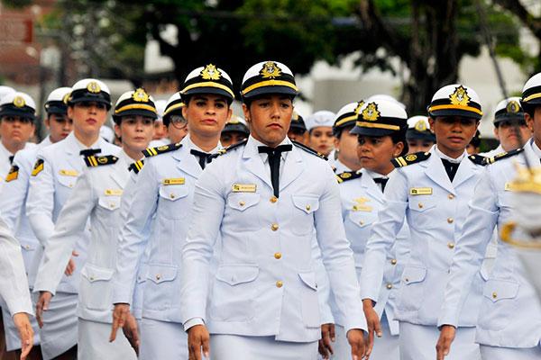 Militares da Marinha participaram do desfile