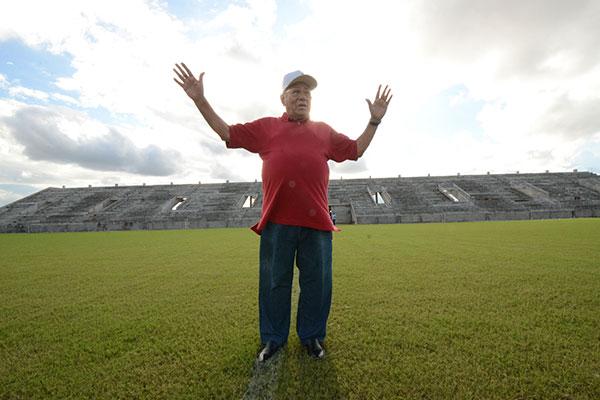 O grande homenageado da festa e que dá nome ao estádio, José Rocha acredita em dia histórico