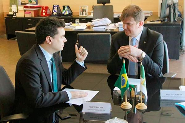 Walter Alves é recebido pelo ministro do Desenvolvimento Regional