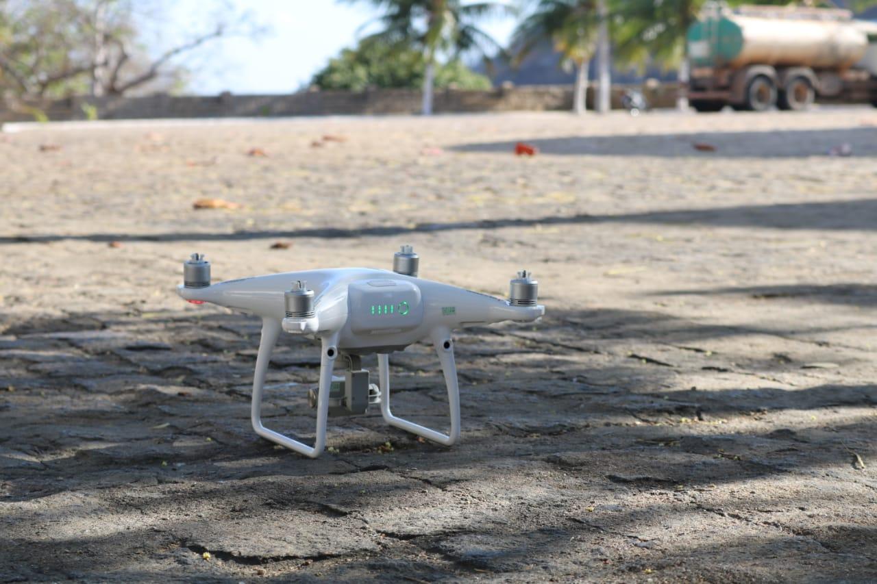 Drones são utilizados para monitorar região