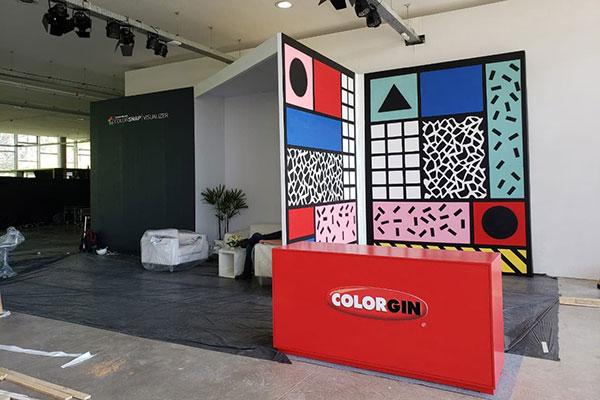 Realidade virtual e grafite nas cores Sherwin-Wiliams