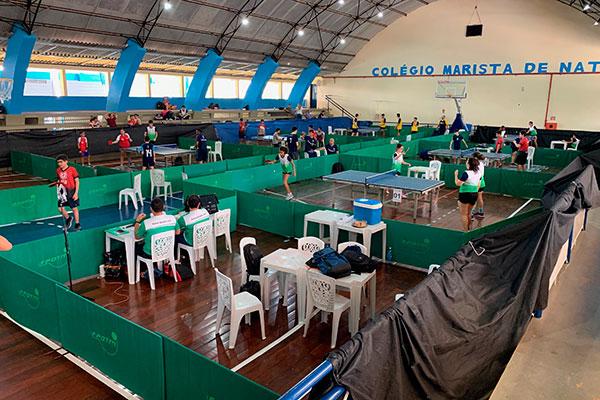 As disputas por medalhas na modalidade de Tênis de Mesa acontecem no Marista até o dia 20
