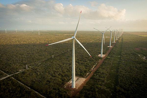 Os parques eólicos vão atrair 73% do investimento total previsto para a implantação dos 14 empreendimentos no Rio Grande do Norte