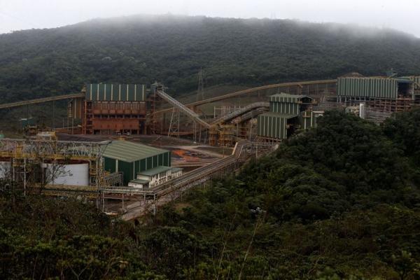 Usina de Concentração da mineradora Samarco, em Mariana