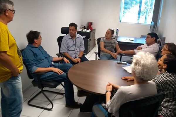 Union leadership met with representatives of health plans