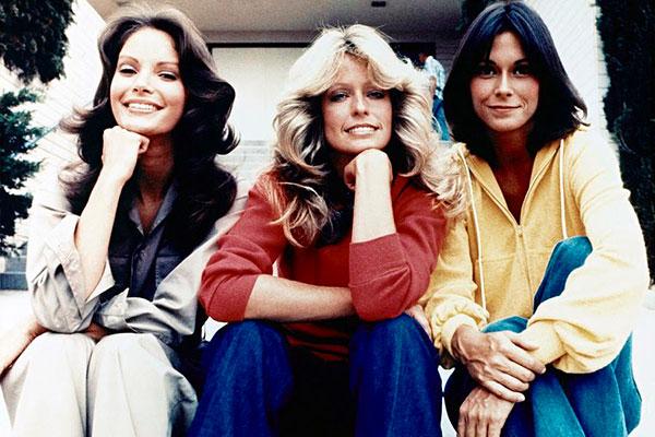 Nos anos 70, Jaclyn Smith, Farrah Fawcett e Kate Jackson como As Panteras