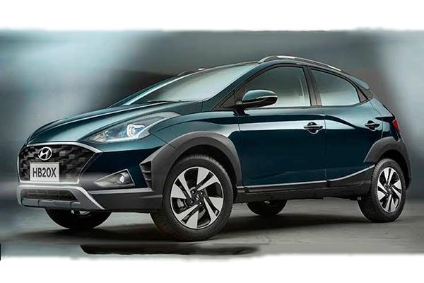 O HB20X enfatiza o conceito premium, trazendo mais uma vez um design ousado, que segue a identidade visual global da Hyundai