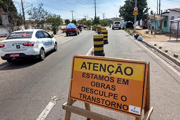 Trecho na altura do KM-6, no bairro Bom Pastor, deve demorar de 60 a 90 dias com obras em andamento, segundo previsão da Semov