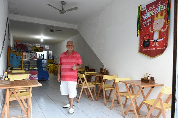 Comerciante Zé Reeira está de endereço temporário e confirma prévias carnavalescas no local
