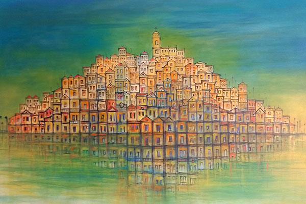 A versatilidade de estilos era uma de suas características. Nas telas, optava por estruturas arquitetônicas com pinceladas rápidas e cores expressivas