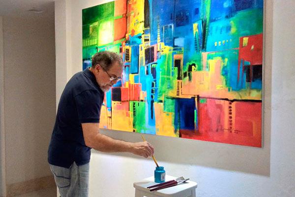 Nos últimos anos, Soares se dedicava somente à pintura