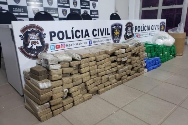 Apreensão de droga da Polícia Civil