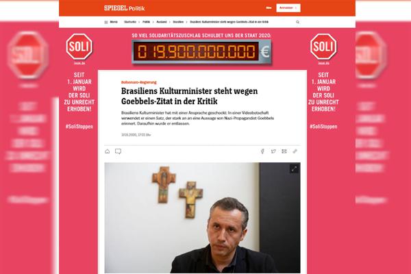 Referência A Goebbels Feita Por Roberto Alvim Repercute Na