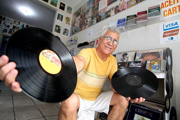 Téo Souto Ribeiro, comerciante de discos