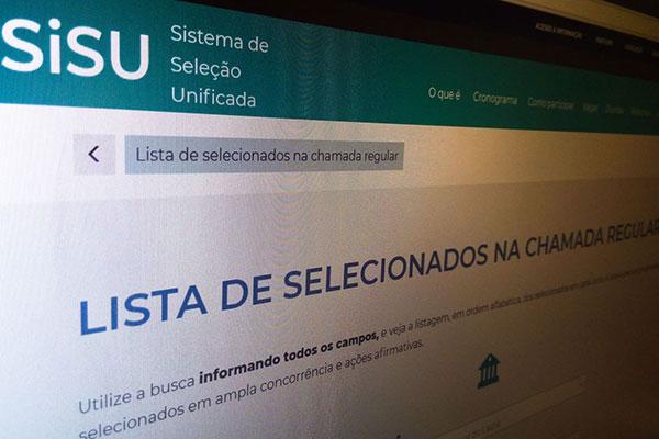 Candidatos poderão acessar página do Sisu na internet para obterem resultado final da seleção. Inscrições para o Prouni estão abertas