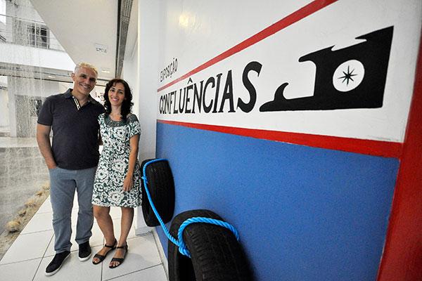 O diretor do MCC, Everardo Ramos, e a professora de arte Estrela Santos, que coordenou os trabalhos
