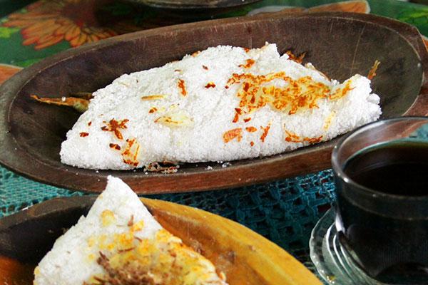 O prato tradicional com ginga e tapioca também tem espaço no concurso
