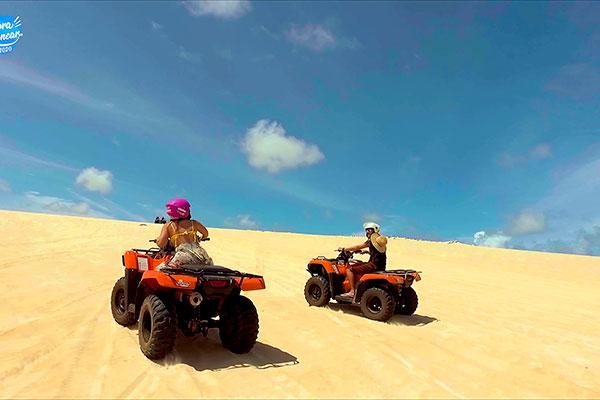 Passeios de quadriciclo pelas dunas do nosso litoral