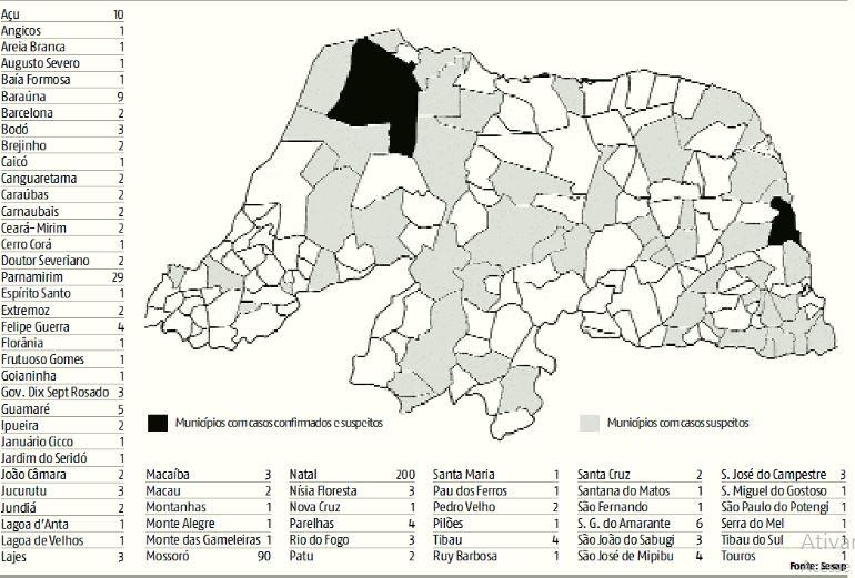 Mapa do Coronavírus